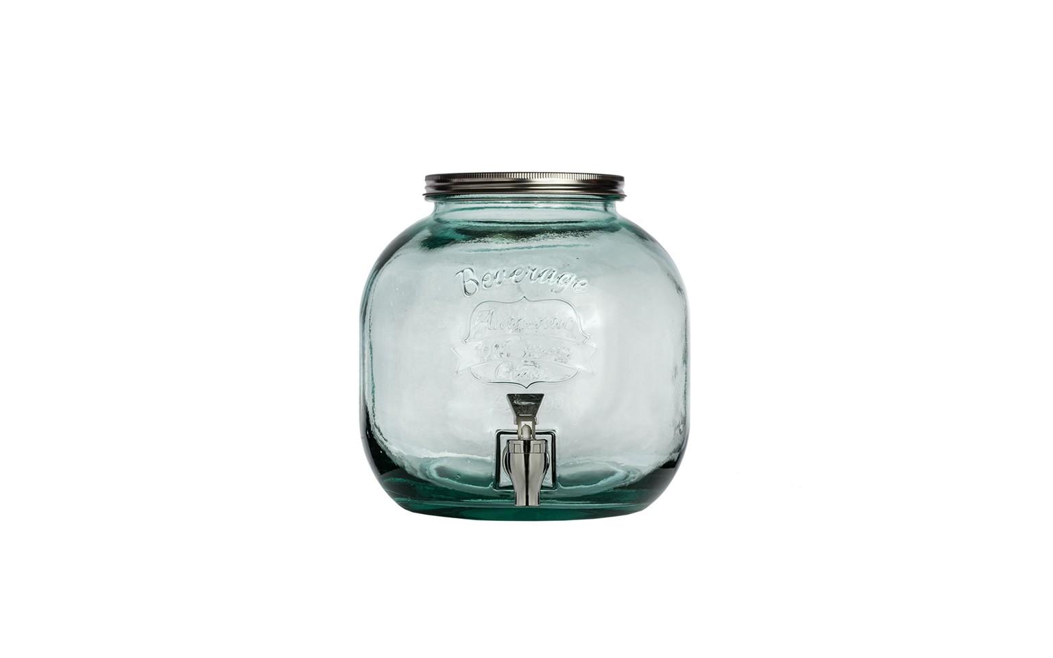 Емкость для лимонадаЕмкости для хранения<br>San Miguel (Испания) – это мощнейшая компания, которая занимается производством очень качественной и оригинальной продукции из переработанного стекла. Vidrios San Miguel известный бренд во всем мире. В наши дни, Vidrios San Miguel имеет более чем 25 000 торговых точек. Vidrios San Miguel занимается производством стеклянных изделий: посуда, бутылки, вазы, сувениры, украшения и многое другое.<br><br>Material: Стекло<br>Height см: 24<br>Diameter см: 23