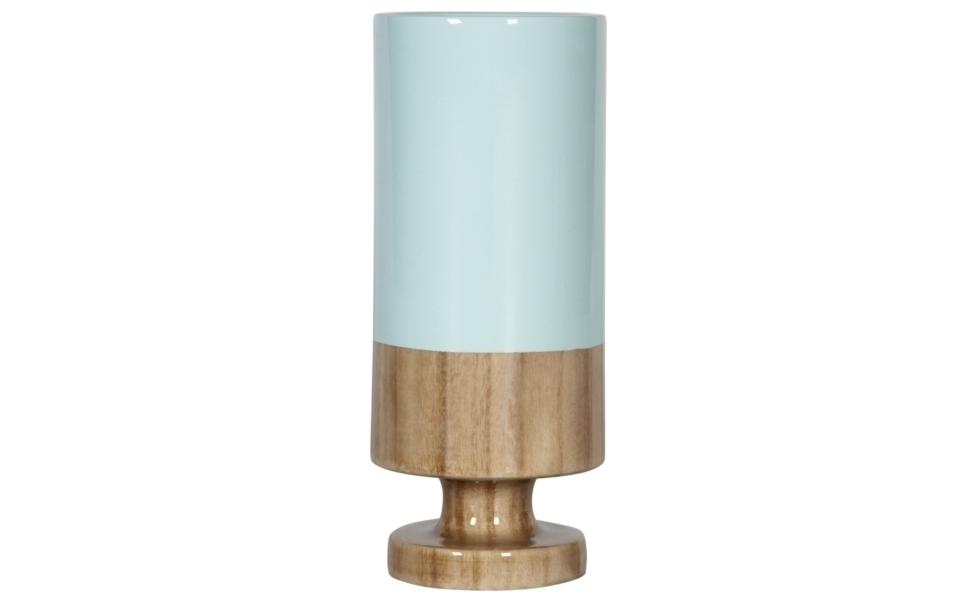 Ваза настольная Rustic ChicВазы<br>Коллекция этих ваз невольно напоминает фольклорную притчу о наполовину пустом или наполовину полном стакане. Если Вы хотите добавить к своему декору немного философии  – соберите эти вазы вместе и они будут великолепны в своей асимметричности, выполненной в пастельных тонах. Впрочем, и в единственном экземпляре Rustic Chic украсит стол, в каком бы интерьере он ни находился.<br><br>Material: Дерево<br>Width см: None<br>Height см: 28<br>Diameter см: 12
