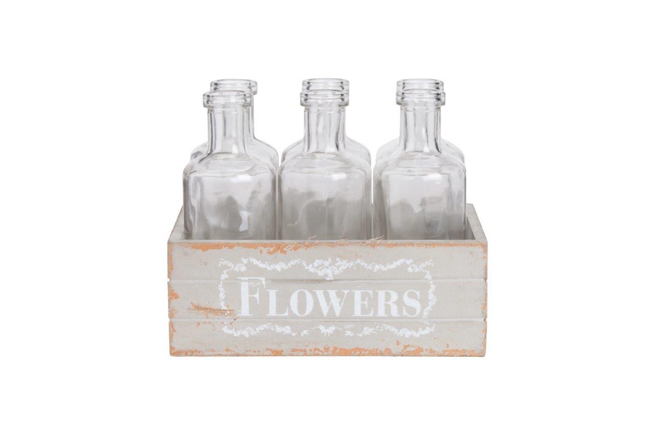Набор стеклянных бутылок