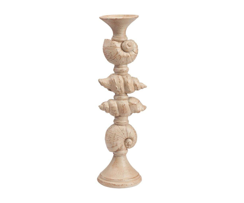 Подсвечник SawyerПодсвечники<br>Оригинальный подсвечник Sawyer изготовлен в виде постамента с изображением нескольких видов ракушек из полирезина, в бежевом цвете. Он не только украсит ваш камин, но и прекрасно подойдёт для подарка друзьям.<br><br>Material: Дерево<br>Height см: 45<br>Diameter см: 13