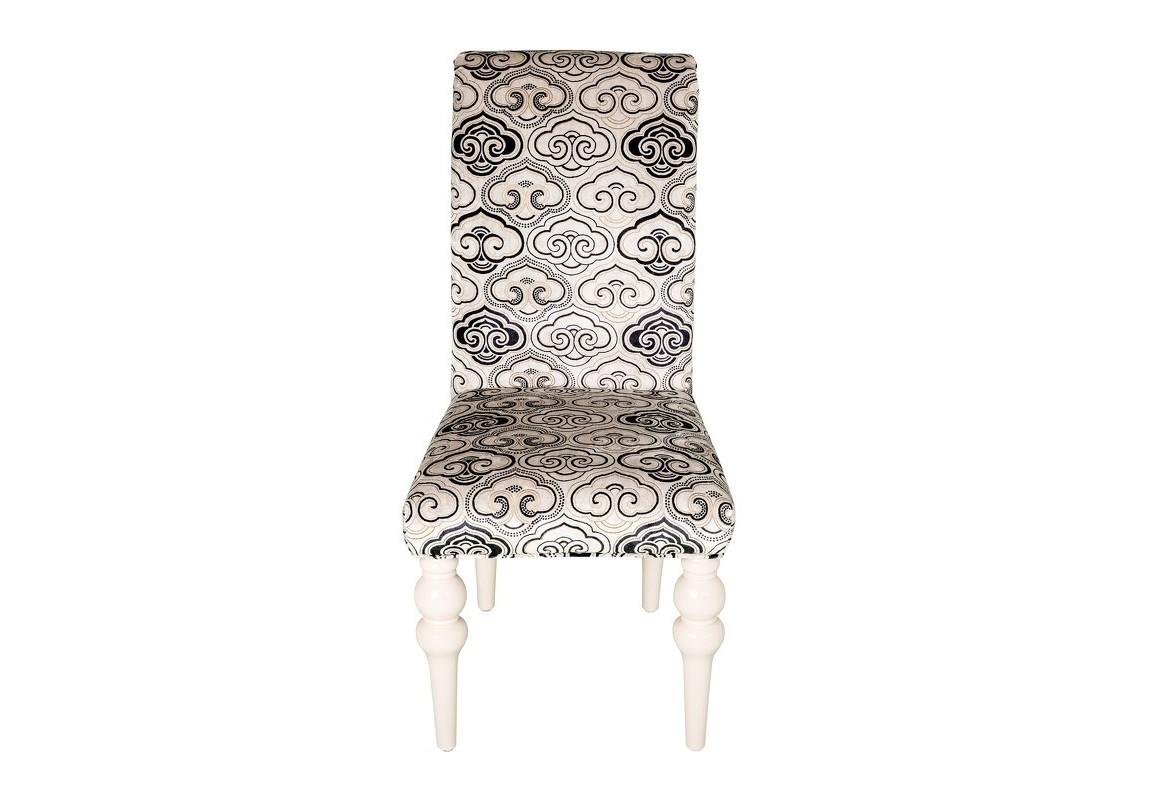 Стул PALERMOОбеденные стулья<br>Стул с изогнутой спинкой из массива дерева. Фигурные ножки в отделке из коллекции фабрики. Обивка — ткань из коллекции фабрики.<br><br>Material: Дерево<br>Width см: 50<br>Depth см: 64,5<br>Height см: 104,1