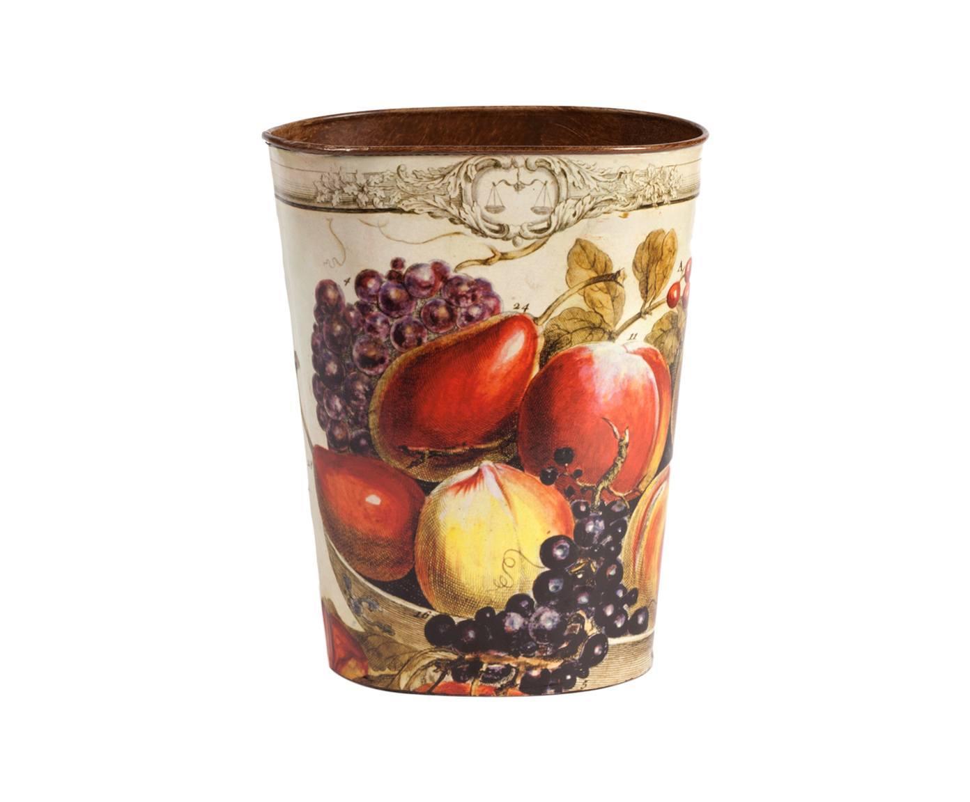Декоративный цветочный горшок BaccaКашпо и аксессуары для цветов<br>Декоративный цветочный горшок Bacca поможет украсить ваш дом или сад и преобразить обычный комнатный цветок. Разноцветные аппетитный фрукты, украшающие аксессуар, добавят интерьеру уюта, тепла, ярких красок и роскоши. Элемент декора изготовлен из металла, а это значит, что прослужит он вам долгие годы. Горшок можно приобрести отдельно или в комплекте с изделиями той же коллекции.<br><br>Material: Металл<br>Height см: 21<br>Diameter см: 9