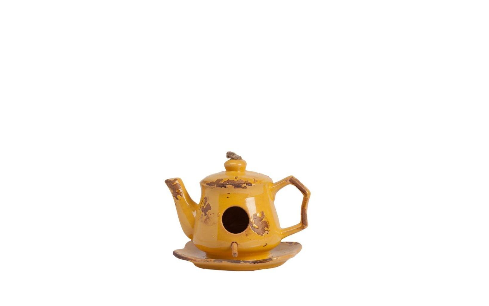 Aромолампа CandeleroАроматические лампы<br>Жёлтая аромалампа Candelero Yellow используется для ароматизации помещений, а если эта лампа выполнена в стиле Прованс: с искусственными потертостями и декоративными элементами, то она способна украсить собой ваш дом и создать в нем романтическую атмосферу. Благодаря аксессуару и нескольким каплям эфирных масел вы сможете снять напряжение, расслабиться после трудного рабочего дня и просто отдохнуть. Станет отличным подарком ценителю красивых вещей. Расставьте по помещениям вашего дома аромалампы разных цветов из коллекции Candelero — и он наполнится благоуханием!<br><br>Material: Керамика<br>Ширина см: 17<br>Высота см: 12<br>Глубина см: 15