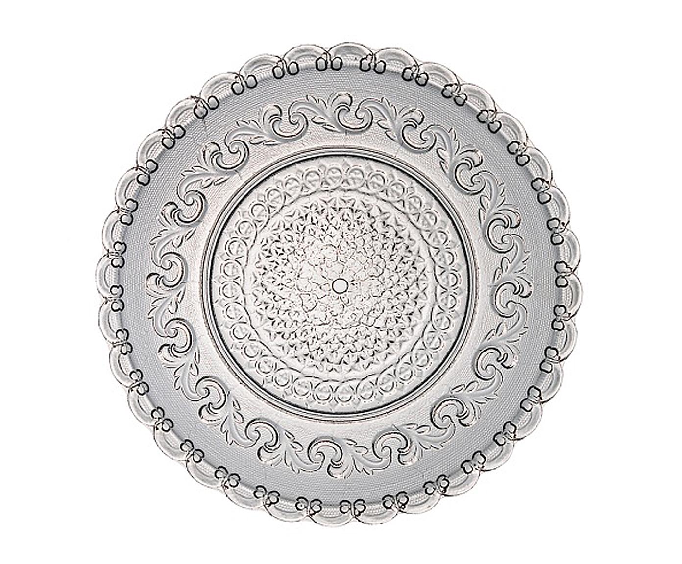 ТарелкаДекоративные тарелки<br>Фабрика VISTA ALLEGRE с 1824 года изготавливает изделия из цветного стекла, смешивая песок и натуральные пигменты. Стеклянные изделия создают ручным способом путем заливания в пресс-формы жидкого стекла. Уникальные цвета и узоры на изделиях позволяют использовать их в любых интерьерных стилях, будь то шебби шик, арт деко, богемный шик, винтаж или современный стиль.<br><br>Material: Стекло<br>Diameter см: 22