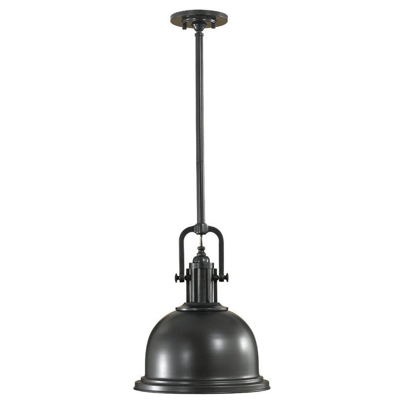 Подвесной светильник Parker Place CollectionСветильники на штанге<br>Люстра на стальном каркасе, вид отделки: темный бронзовый. Модель рассчитана на две средних лампочки макс. мощностью 60 Вт. Длина кабеля питания – 457 см.<br><br>Material: Сталь<br>Height см: 41<br>Diameter см: 33