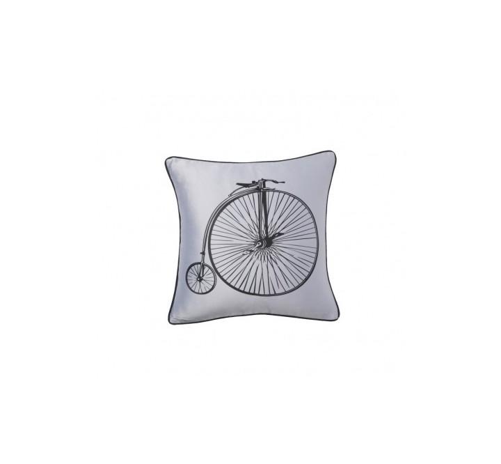 Подушка Retro BicycleКвадратные подушки и наволочки<br>Светло-серая подушка с хлопковым чехлом и изображением ретро-велосипеда Retro Bicycle White экологична и удобна, подчеркнет особенность, уют и очарование вашего дома. Подушка также будет отличным сувениром и оригинальным подарком любителям велосипедных прогулок.<br><br>Material: Хлопок<br>Width см: 43<br>Depth см: 10<br>Height см: 43