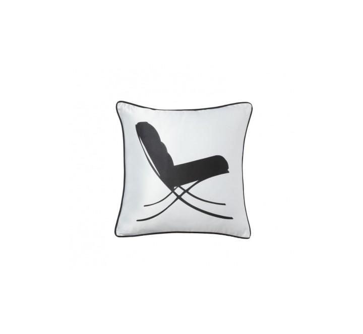 Подушка Japanese LoungeКвадратные подушки и наволочки<br>Белая элегантная подушечка с черным креслом-качалкой в японском стиле Japanese Lounge символизирует покой, уют и негу, является важным компонентом убранства дома. Так и хочется расслабиться, откинуться в кресле, закрыв глаза. Подушка выгодно подчеркнет любой стиль интерьера. Подушка также будет отличным сувениром и оригинальным подарком.<br><br>Material: Хлопок<br>Width см: 43<br>Depth см: 10<br>Height см: 43