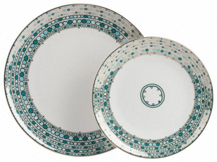 Комплект тарелок MosaicoДекоративные тарелки<br>Диаметр одной тарелки&amp;amp;nbsp;25.5 см&amp;lt;div&amp;gt;Диаметр другой тарелки&amp;amp;nbsp;20 см&amp;lt;/div&amp;gt;<br><br>Material: Фарфор<br>Depth см: 2<br>Diameter см: 25.5