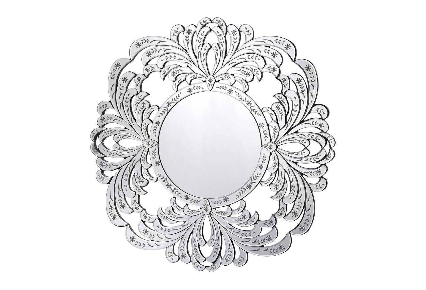 Зеркало СюзетНастенные зеркала<br><br><br>Material: МДФ<br>Ширина см: 80.0<br>Высота см: 80.0<br>Глубина см: 3.0