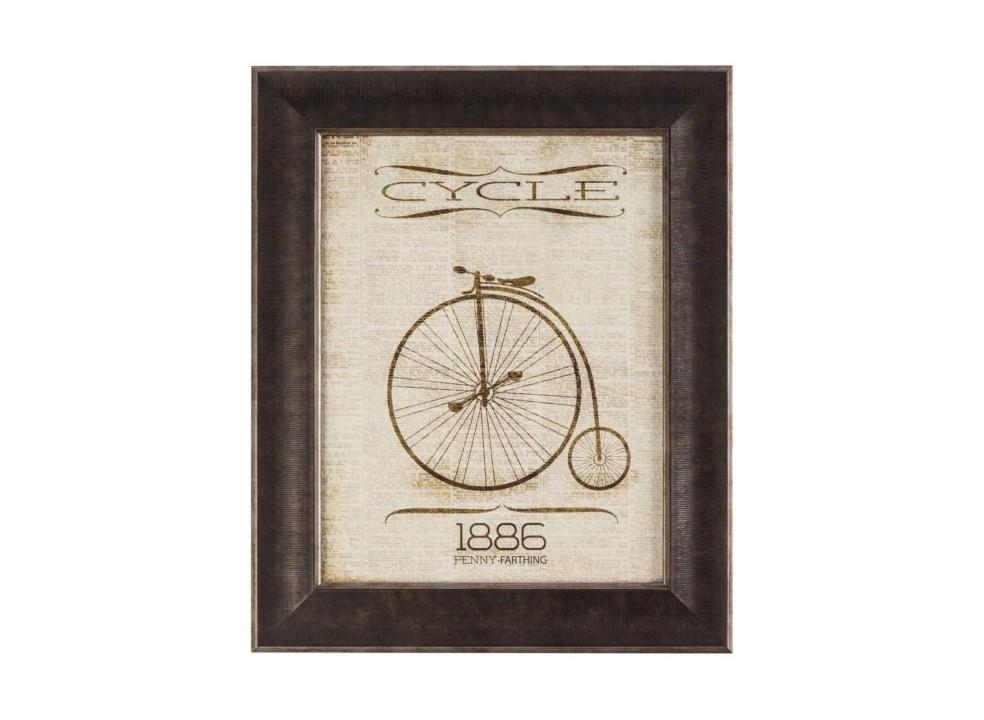 Постер в раме Cycle 1886Постеры<br><br><br>Material: Дерево<br>Ширина см: 37<br>Высота см: 45<br>Глубина см: 2