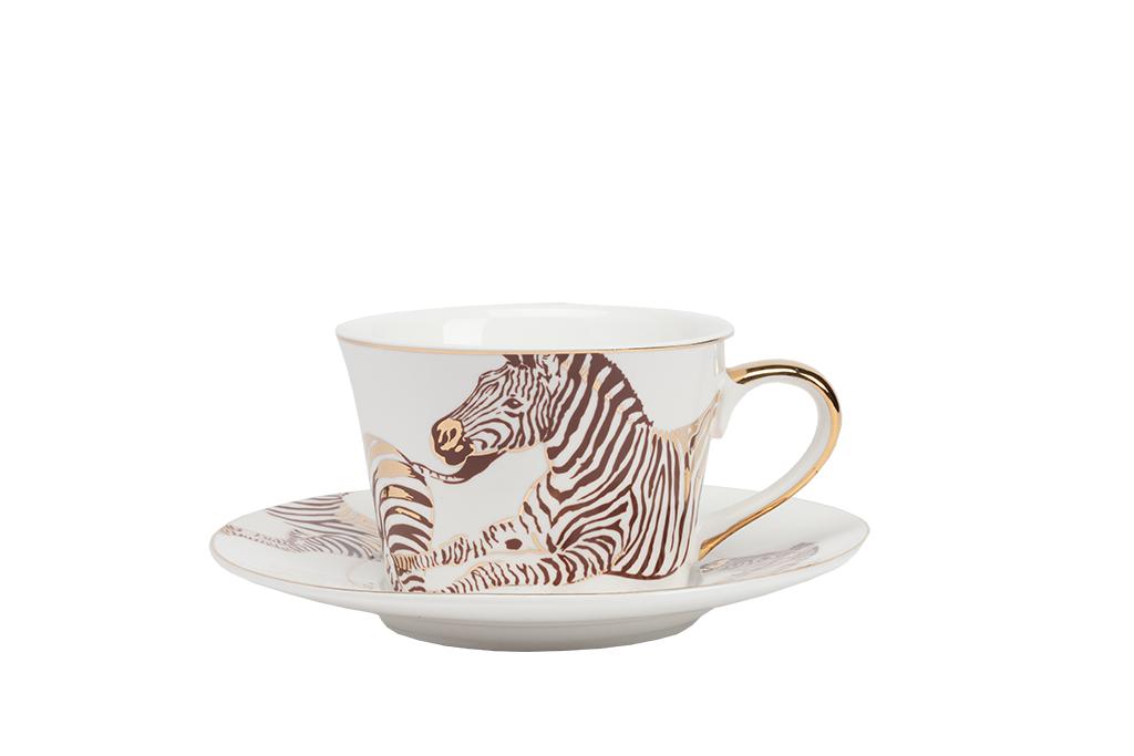 Чайная пара CebraЧайные пары и чашки<br><br><br>Material: Фарфор<br>Height см: 6<br>Diameter см: 14