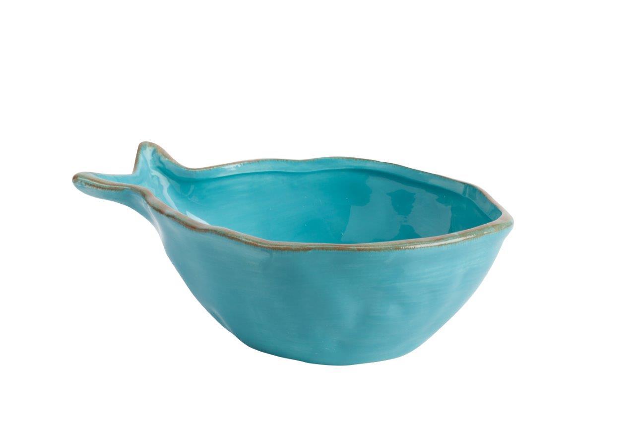 Пиала Blue FishМиски и чаши<br>Стиль дома отражает стиль жизни его обитателей. Наша утонченная посуда создана для тех, кто понимает толк в моде, любит комфорт, изящность, стильные детали с характером и не боится экспериментировать. Эта пиала идеально подойдёт для красивого оформления стола, а рыбный суп или уха покажутся необыкновенно вкусными.<br><br>Material: Керамика<br>Diameter см: 27