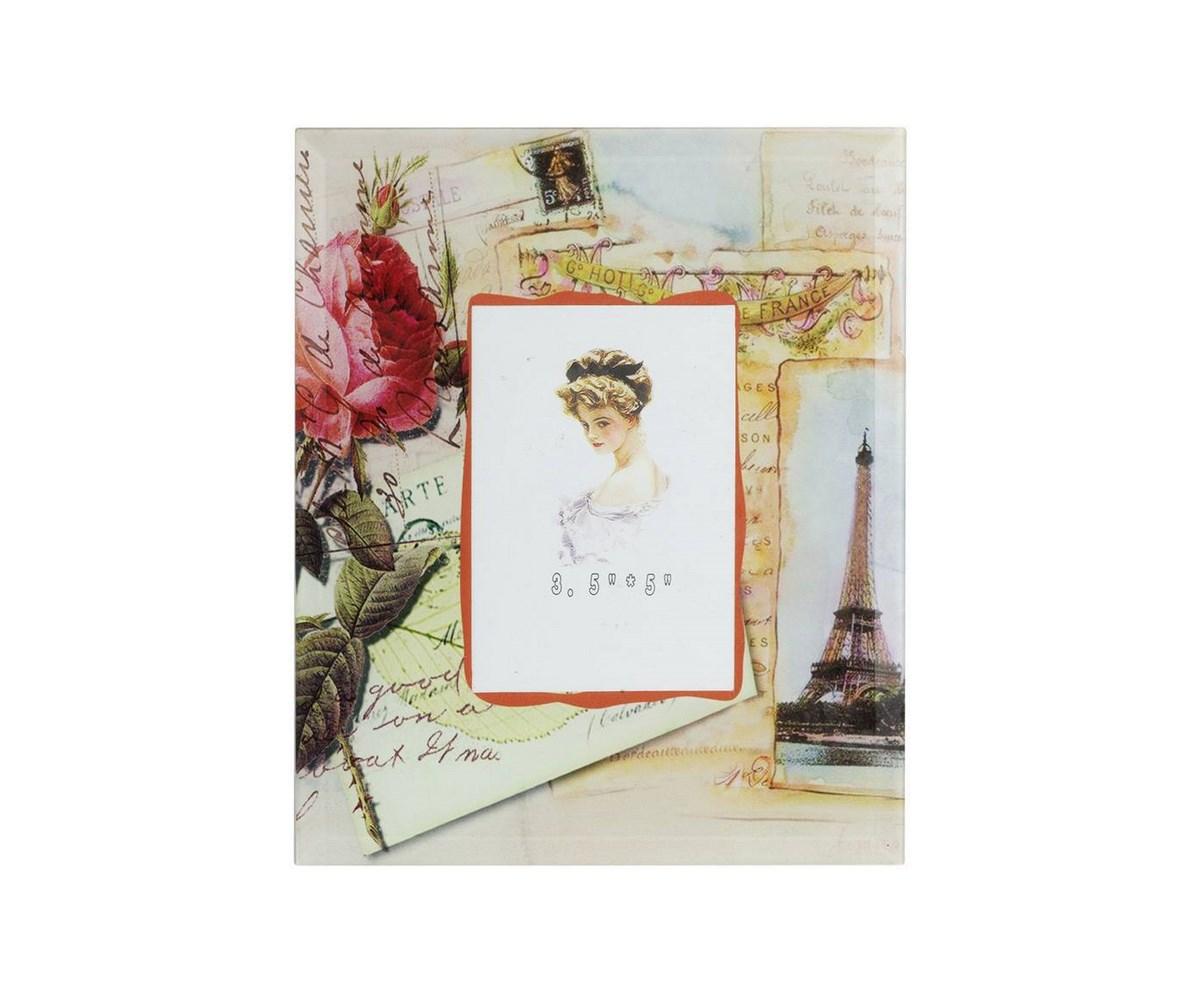 Фоторамка ParisРамки для фотографий<br>Изящная, нежная фоторамка Paris с оригинальными рисунками и неброскими надписями непременно украсит вашу спальню, кабинет или гостиную. Элемент декора даст возможность любоваться в любое время лицами дорогих людей или поддаваться воспоминаниям о приятных моментах жизни. Рамка смотрится настолько утонченно и изысканно, что впишется в любой классический или современный интерьер.<br><br>Material: Стекло<br>Width см: 19<br>Depth см: 1.5<br>Height см: 23