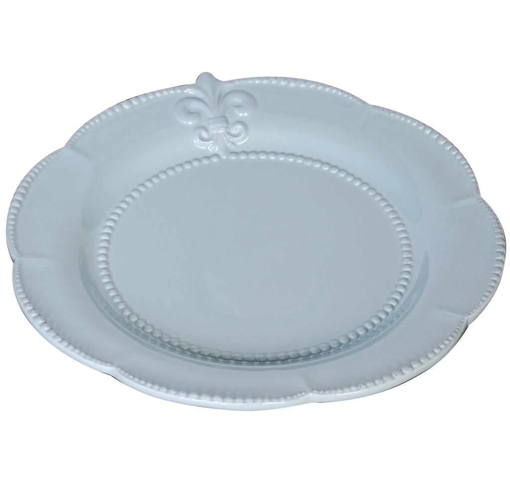 Большая тарелка Tess BlueДекоративные тарелки<br><br><br>Material: Керамика<br>Depth см: 0.5<br>Diameter см: 28