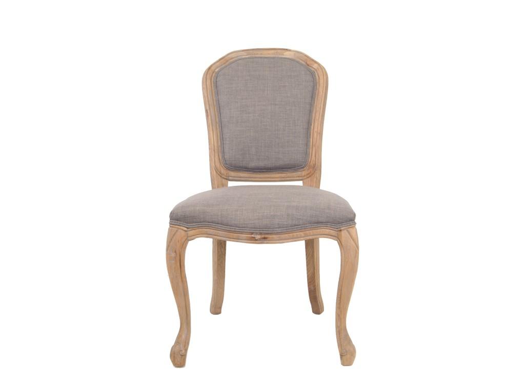Стул GranesОбеденные стулья<br>Выполнен в элегантном классическом стиле с изящной спинкой. Стул сделан из ценной древесной породы - массива дуба, искусственно состраренного. Ткань обивки выполнена из льна - экологически чистого и приятного материала на ощупь.