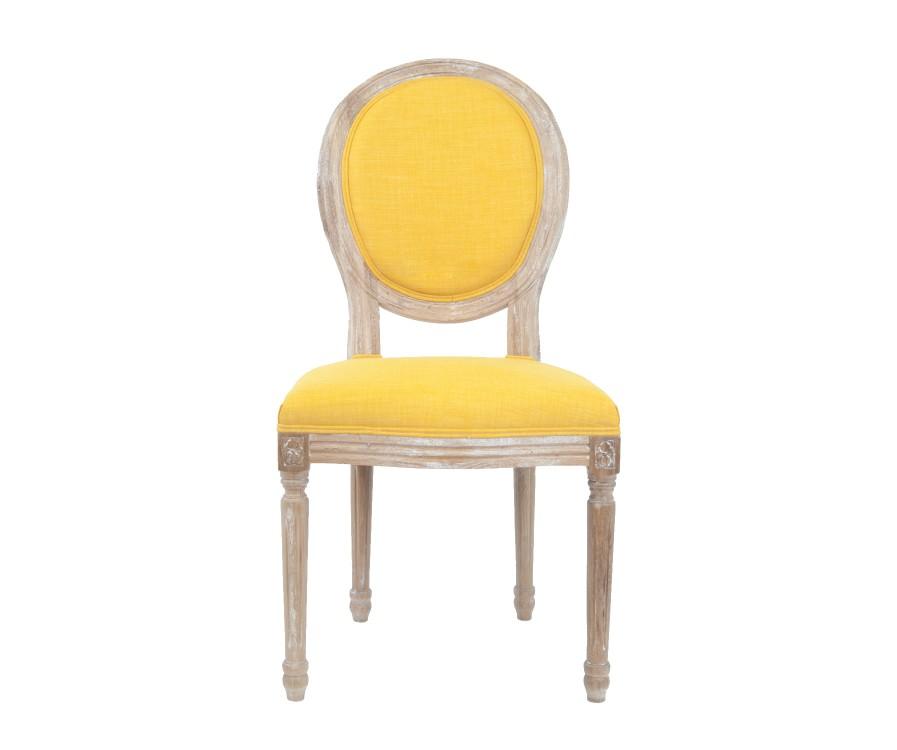 Стул MiroОбеденные стулья<br>Изысканный стул Miro с округлой спинкой напоминающей медальон, выполнен в элегантном классическом французском стиле. Основание модели выполнено из цельной породы древесины - массива дуба, искусственно состаренного. Такой стул эффектно смотрится как в контрастной, так и в однотонной обстановке.&amp;amp;nbsp;<br><br>Material: Дуб<br>Width см: 50<br>Depth см: 56<br>Height см: 98