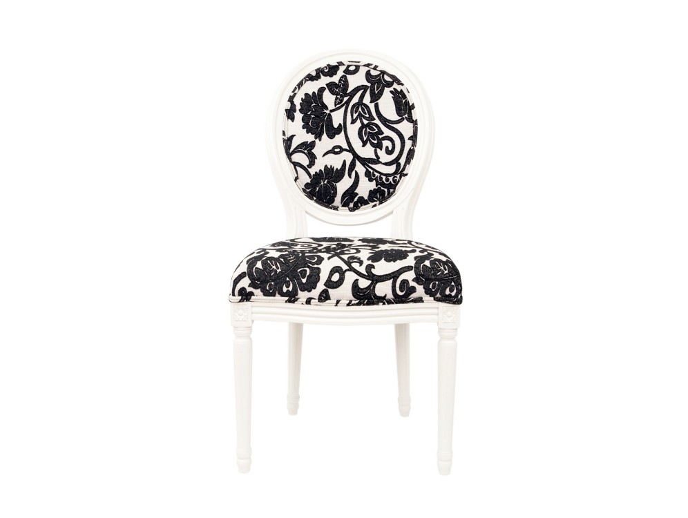 Стул MiroОбеденные стулья<br>Изысканный стул Miro с округлой спинкой напоминающей медальон, выполнен в элегантном классическом французском стиле. Основание модели выполнено из цельной породы древесины - массива дуба.&amp;lt;div&amp;gt;&amp;lt;br&amp;gt;&amp;lt;/div&amp;gt;<br><br>Material: Дуб<br>Width см: 50<br>Depth см: 56<br>Height см: 98