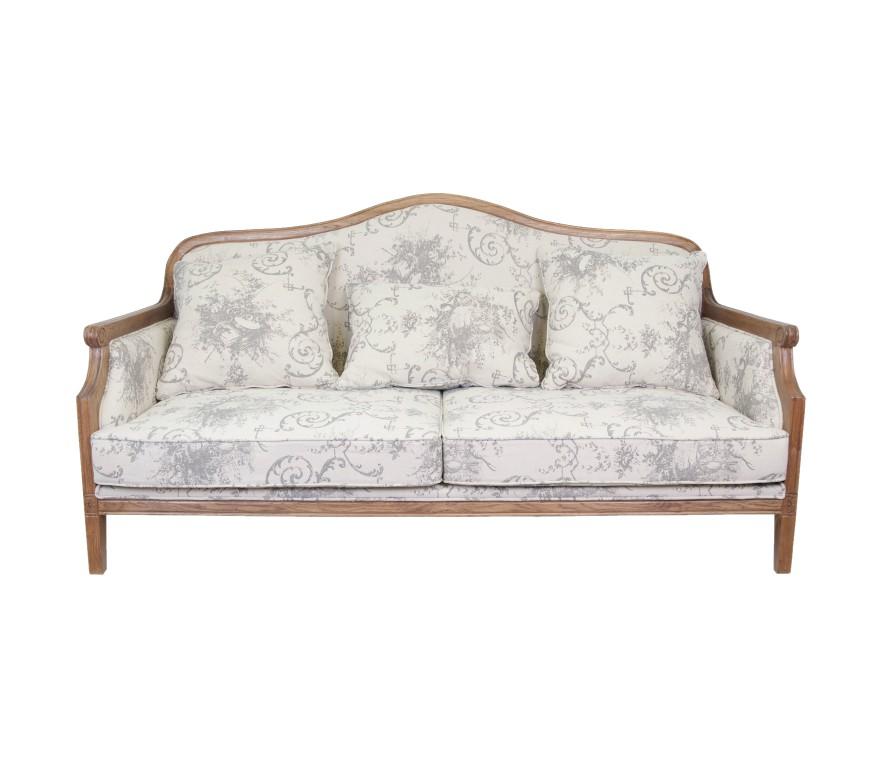 Диван MadestaТрехместные диваны<br>Этот двухместный диван, выполненный во французском стиле просто восхитителен! Деревянные ножки выполнены из натурального дуба, а обивка из натурального льна. Диван Madesta просто создан для интерьера в стиле прованс! Не полюбить его просто невозможно.<br><br>Material: Лен<br>Ширина см: 190<br>Высота см: 100<br>Глубина см: 90