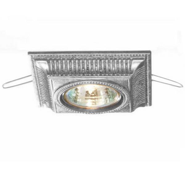 Встраиваемый светильникТочечный свет<br>Встраиваемый светильник из металла серебряного цвета. Дизайн: Karen Lenz.&amp;lt;div&amp;gt;&amp;lt;br&amp;gt;&amp;lt;/div&amp;gt;&amp;lt;div&amp;gt;Цоколь: GU5.3;&amp;lt;br&amp;gt;&amp;lt;/div&amp;gt;&amp;lt;div&amp;gt;&amp;lt;div&amp;gt;Мощность: 35W;&amp;lt;/div&amp;gt;&amp;lt;div&amp;gt;Лампочка 1 в комплект не входит.&amp;lt;/div&amp;gt;&amp;lt;/div&amp;gt;<br><br>Material: Металл<br>Ширина см: 10<br>Высота см: 2<br>Глубина см: 10