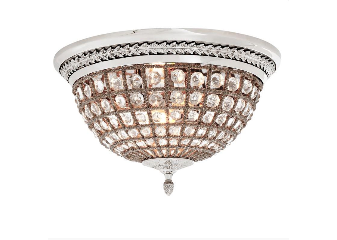 Потолочный светильникПотолочные светильники<br>&amp;lt;div&amp;gt;Потолочный светильник Kasbah на никелированной арматуре с патиной. Плафон в виде сетки состоит из мноржества прозрачных бус с крупными кристаллами.&amp;lt;/div&amp;gt;&amp;lt;div&amp;gt;Количество лампочек: 2&amp;lt;/div&amp;gt;&amp;lt;div&amp;gt;Мощность: 2 x 40 Вт&amp;lt;/div&amp;gt;&amp;lt;div&amp;gt;Тип лампы: Накаливания, E14&amp;lt;/div&amp;gt;<br><br>Material: Металл<br>Height см: 37<br>Diameter см: 45