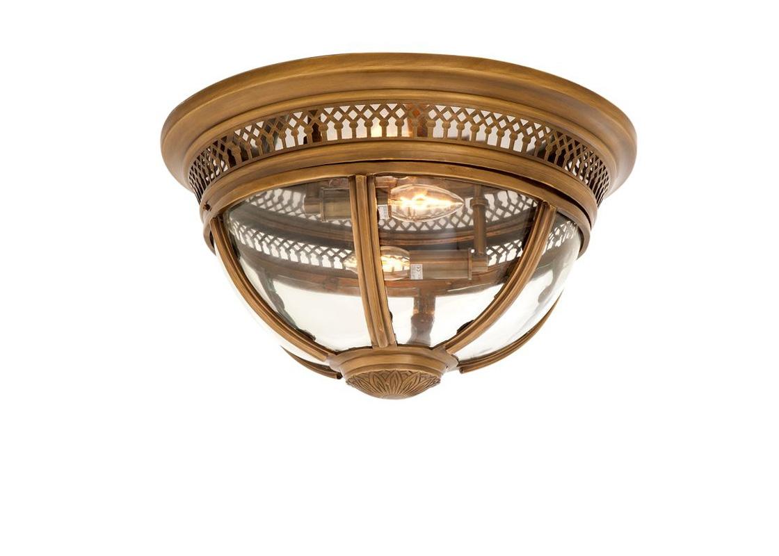 Потолочный светильникПотолочные светильники<br>&amp;lt;div&amp;gt;Потолочный светильник Residential на металлической арматуре цвета латунь с патиной. Плафон выполнен из прозрачного стекла.&amp;lt;/div&amp;gt;&amp;lt;div&amp;gt;Количество лампочек: 2&amp;lt;/div&amp;gt;&amp;lt;div&amp;gt;Мощность: 2 x 40 Вт&amp;lt;/div&amp;gt;&amp;lt;div&amp;gt;Тип лампы: Накаливания, E14&amp;lt;/div&amp;gt;<br><br>Material: Металл<br>Height см: 30<br>Diameter см: 45