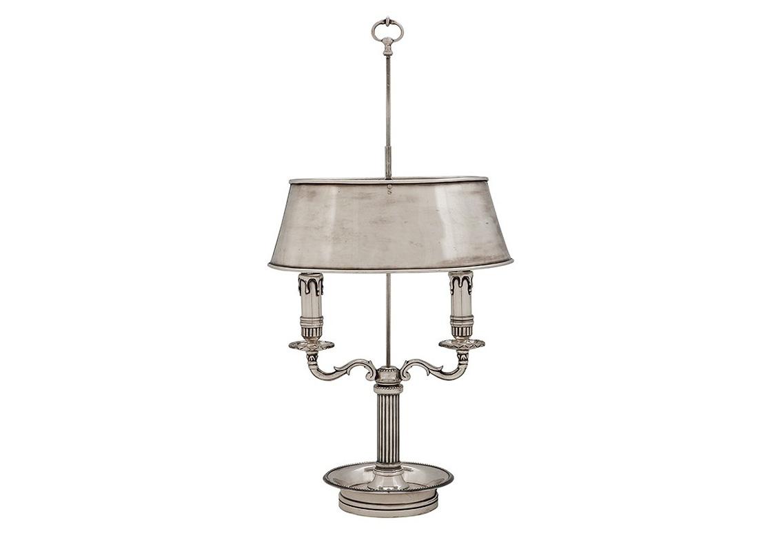 Настольная лампаДекоративные лампы<br>&amp;lt;div&amp;gt;Настольная лампа Lamp Bentham из металла цвета античное серебро. Металлический абажур скрывает лампы. Дизайн ламп выполнен в виде свечей в подсвечниках.&amp;lt;/div&amp;gt;&amp;lt;div&amp;gt;&amp;lt;br&amp;gt;&amp;lt;/div&amp;gt;&amp;lt;div&amp;gt;Количество лампочек: 2&amp;lt;/div&amp;gt;&amp;lt;div&amp;gt;Мощность: 2 x 40 Вт&amp;lt;/div&amp;gt;&amp;lt;div&amp;gt;Тип лампы: Накаливания, E14&amp;lt;/div&amp;gt;<br><br>Material: Металл<br>Width см: 34<br>Depth см: 19<br>Height см: 67
