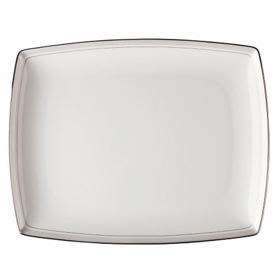 Блюдо прямоугольноеДекоративные блюда<br>MIKASA по праву считается одним из мировых лидеров по производству столовой посуды из фарфора и керамики. На протяжении более полувека категории качества и дизайна являются неотъемлемой частью бренда MIKASA. Сегодня MIKASA сотрудничает со многими известными дизайнерами, работающими для лучших фабрик мира, и использует самые передовые технологии в производстве посуды.<br><br>Material: Фарфор<br>Length см: 33<br>Width см: None<br>Depth см: None<br>Height см: None<br>Diameter см: None