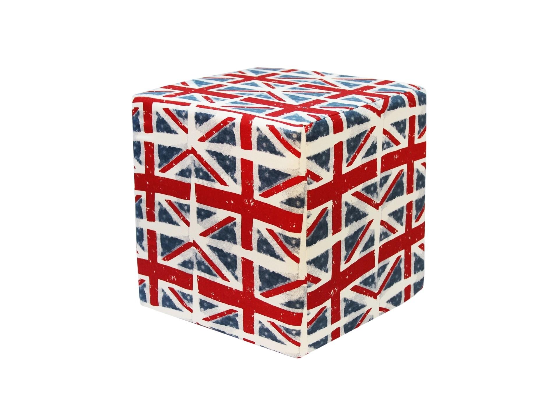 Квадратный пуф Great BritainФорменные пуфы<br>Устойчивый пуф на деревянной основе статнет незаменимым предметом декора или функциональной мебелью в вашем доме. А эксклюзивные ткани привезенные Лоскутклаб из США добавят изюминку в ваше пространство.<br><br>Material: Хлопок<br>Width см: 38<br>Depth см: 38<br>Height см: 41