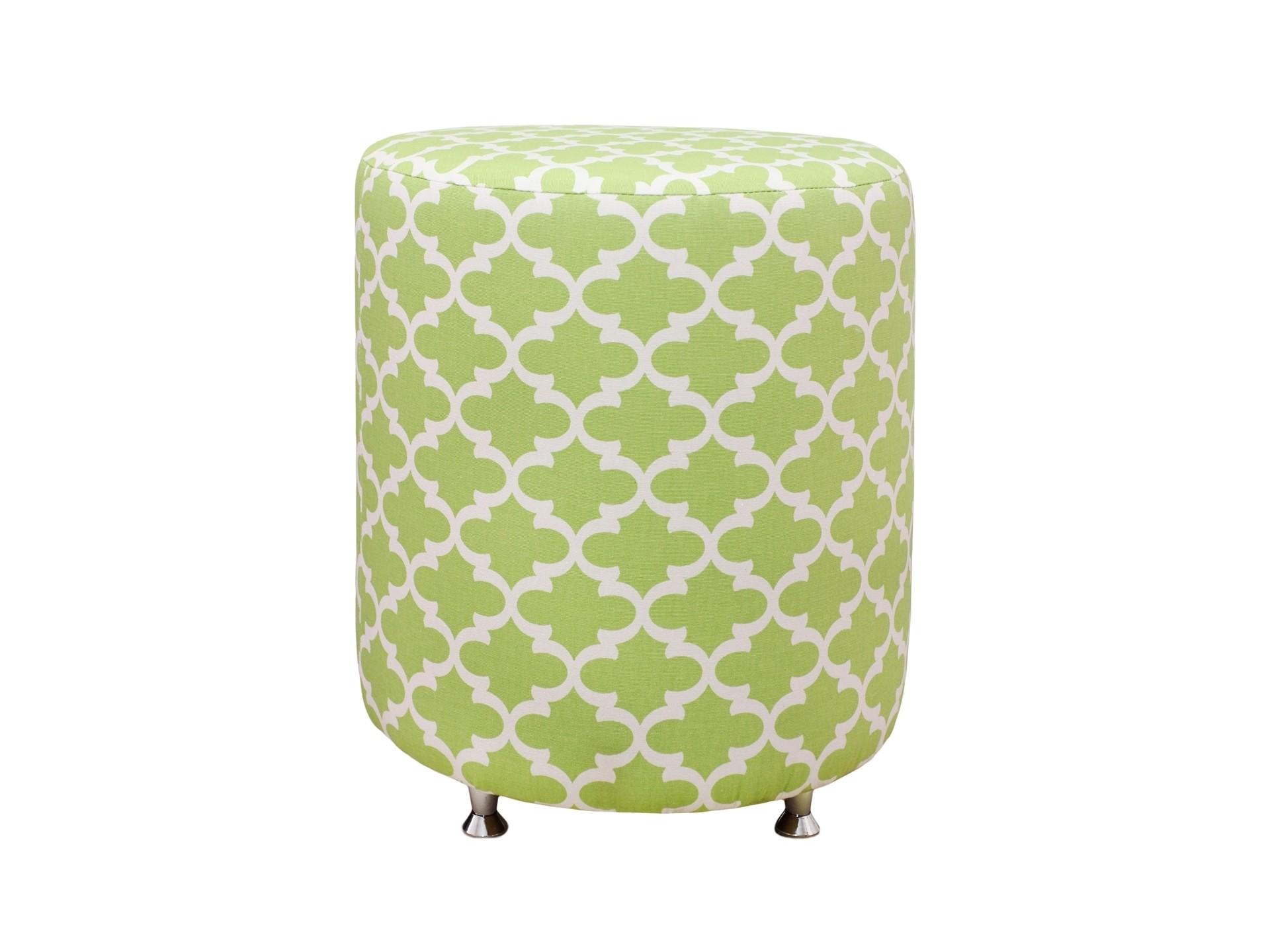 Круглый пуф Fulton KiwiФорменные пуфы<br>Устойчивый пуф на деревянной основе статнет незаменимым предметом декора или функциональной мебелью в вашем доме. А эксклюзивные ткани привезенные Лоскутклаб из США добавят изюминку в ваше пространство.<br><br>Material: Хлопок<br>Height см: 40<br>Diameter см: 38