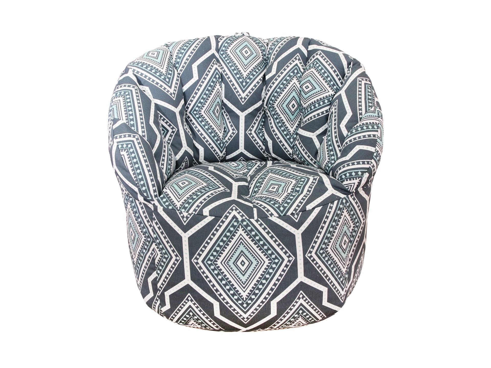 Кресло-пуф Canal TwillФорменные пуфы<br>Комфортное и легкое кресло-пуф станет неотьемлемой частью вашего интерьера. Спинка кресла держит форму и обеспечивает круговую поддержку для спины за счет особой системы пошива и подпоя из синтепона. Удобное и комфортное кресло способно осовременить любой интерьер. Эксклюзивная ткань, привезенная из США поможет создать оригинальный и неповторимый интерьер в вашем доме.<br><br>Material: Хлопок<br>Width см: 85<br>Depth см: 79<br>Height см: 91