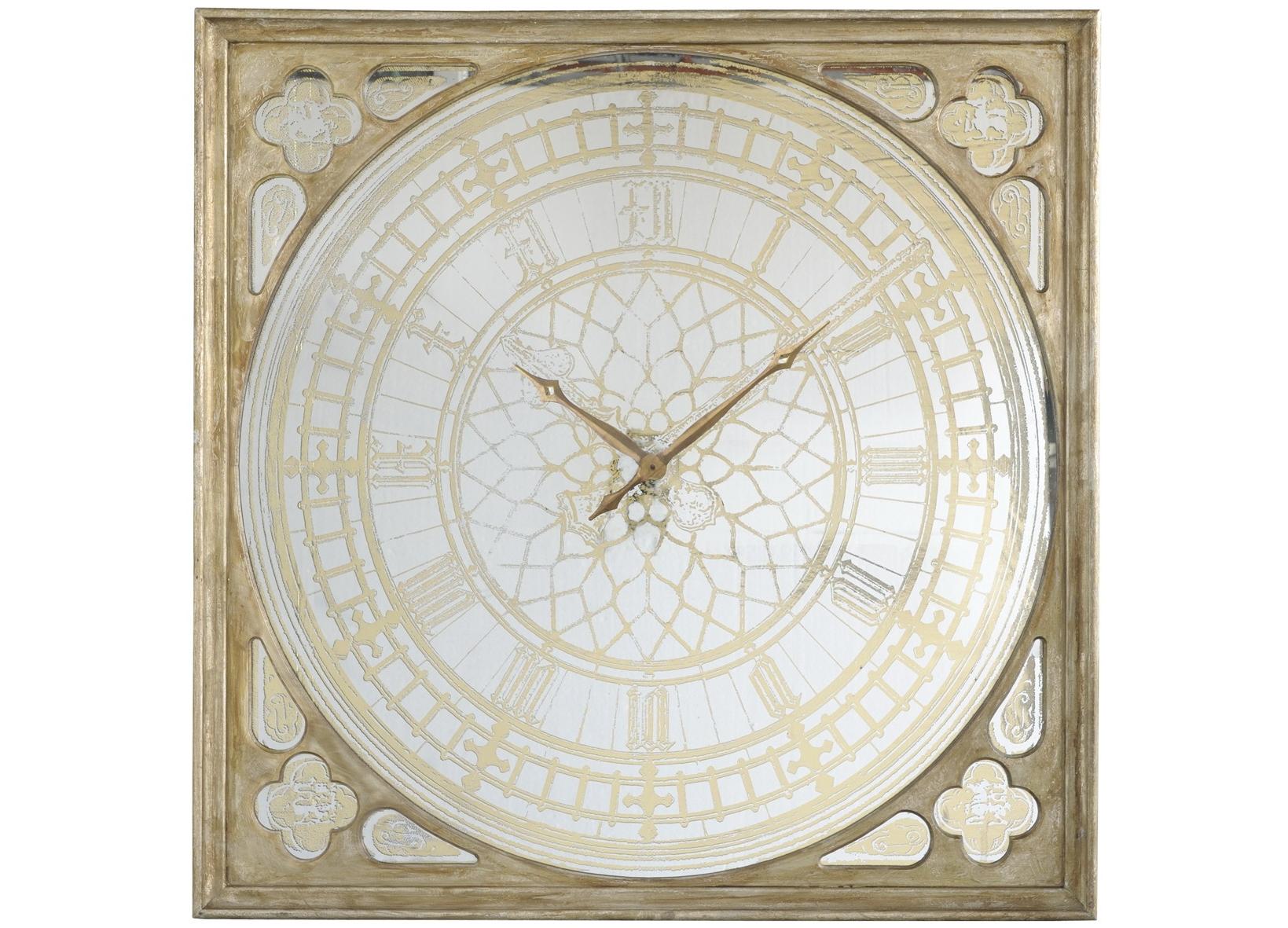 Часы настенныеНастенные часы<br>Часы настенные с зеркальным патинированным покрытием&amp;lt;div&amp;gt;Вес 26 кг&amp;lt;/div&amp;gt;<br><br>Material: Дерево<br>Width см: 125<br>Depth см: 6,5<br>Height см: 125