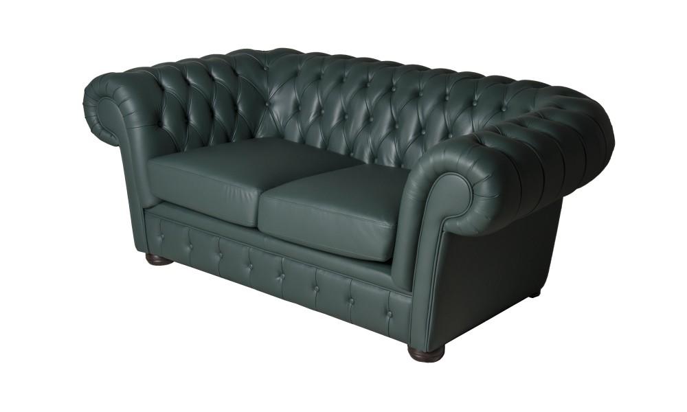 Прямой диван СlassicДвухместные диваны<br>Благородные формы дивана Classic Lux  и основательность в сочетании с мягкостью и комфортом, современный дизайн, привлекательность и функциональность сделают его отличным дополнением любого интерьера и украшением вашего кабинета, библиотеки или прихожей. Диван оборудован удобной спинкой, выполненной с оригинальными и вновь популярными утяжками, мягкими подушками сидений, оригинальной формы боковинами подлокотниками, круглыми ножками-опорами.<br><br>Material: Кожа<br>Width см: 186<br>Depth см: 74<br>Height см: 104