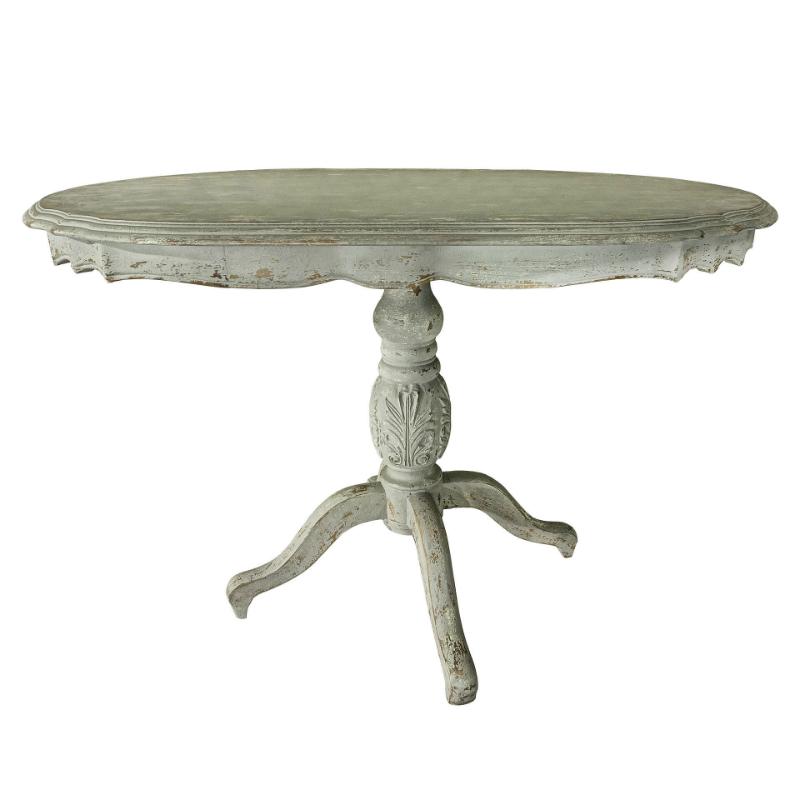 Стол ЛуисОбеденные столы<br>Уютный овальный стол, достаточно вместительный, его длинна 1,2 метра. Дизайн привлекает внимание, красивые резные элементы, выполнен полностью из натурального дерева, белый цвет. Такой стол станет изюминкой вашего интерьера и местом для семейного чаепития.<br><br>Material: Дерево<br>Width см: 120<br>Depth см: 80<br>Height см: 78
