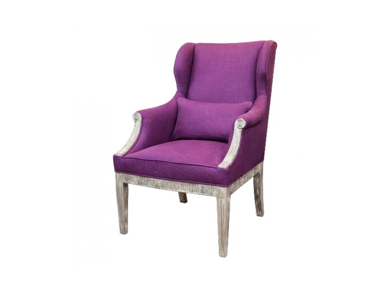 Кресло СигнораКресла с высокой спинкой<br>Оригинальное и элегантное кресло, выполненное в стиле ретро. Его отличительной особенностью считается наличие состаренных ножек, выполненных из натуральной древесины, а также рамы с незначительной резьбой. Кресло &amp;quot;Сигнора&amp;quot; имеет яркую мягкую обивку из бархата цвета фуксии.&amp;amp;nbsp;Мягкие сиденья, крупные и комфортабельные подлокотники – всё это придаёт креслу максимально уютный и привлекательный вид.<br><br>Material: Бархат<br>Width см: 86<br>Depth см: 71<br>Height см: 110