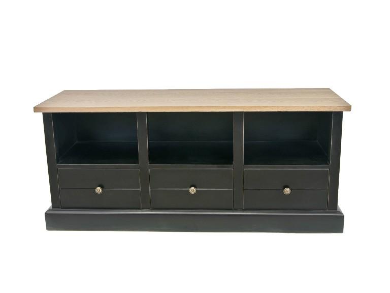 Тумба CurranИнтерьерные тумбы<br>Тумба Curran — яркий представитель изысканной мебели для классической гостиной. Благодаря своему темному цвету тумба отлично сыграет на контрасте в любом цветовой решении вашего интерьера.<br><br>Material: Дуб<br>Ширина см: 140<br>Высота см: 60<br>Глубина см: 45