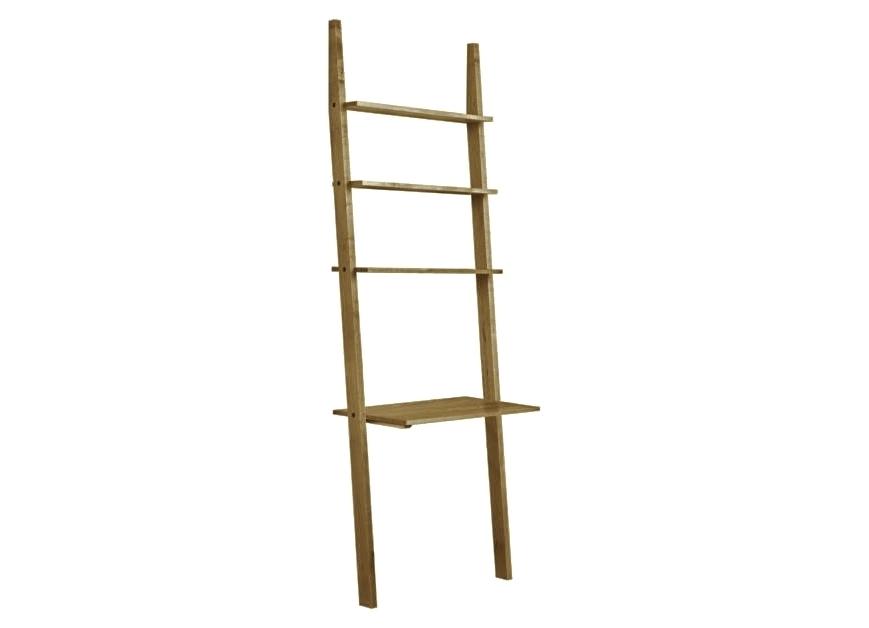 Стеллаж с рабочим местом AngleСтеллажи и этажерки<br>В комплекте идет крепление к стене. Может стоять самостоятельно, но производитель рекомендует крепить к стене.<br><br>Material: Дуб<br>Width см: 80<br>Depth см: 50<br>Height см: 190