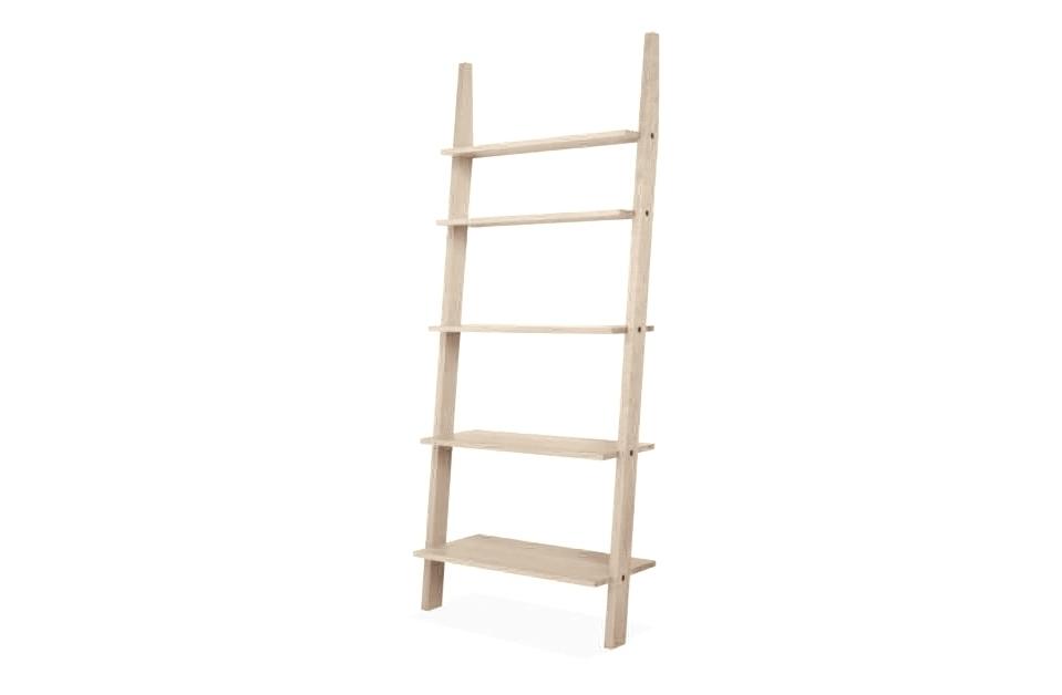 Стеллаж AngleСтеллажи и этажерки<br>В комплекте идет крепление к стене. Может стоять самостоятельно, но производитель рекомендует крепить к стене.<br><br>Material: Дуб<br>Ширина см: 80<br>Высота см: 190<br>Глубина см: 35