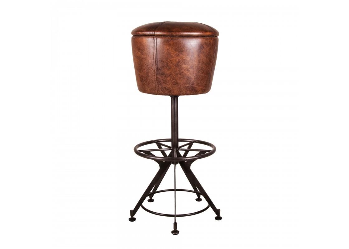 Стул барный ПудуаБарные стулья<br><br><br>Material: Кожа<br>Height см: 86<br>Diameter см: 42