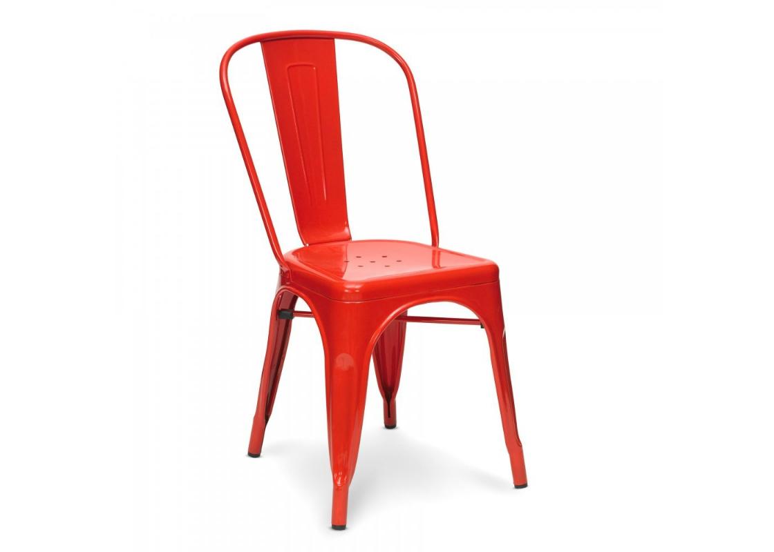 СтулСтулья для сада<br>Металлический красный стул не отличается какими-либо странными вставками или элементами. Материал, из которого сделана модель, вот основная ее особенность. Вы можете поставить этот стул в гостиной или столовой или же украсить им приусадебный участок. Он отлично будет сочетаться с любыми элементами декора благодаря своей простоте и отсутствию напыщенности. Яркий оттенок также не создает сложностей при придумывании интересных комбинаций.<br><br>Material: Металл<br>Width см: 35<br>Depth см: 35<br>Height см: 85