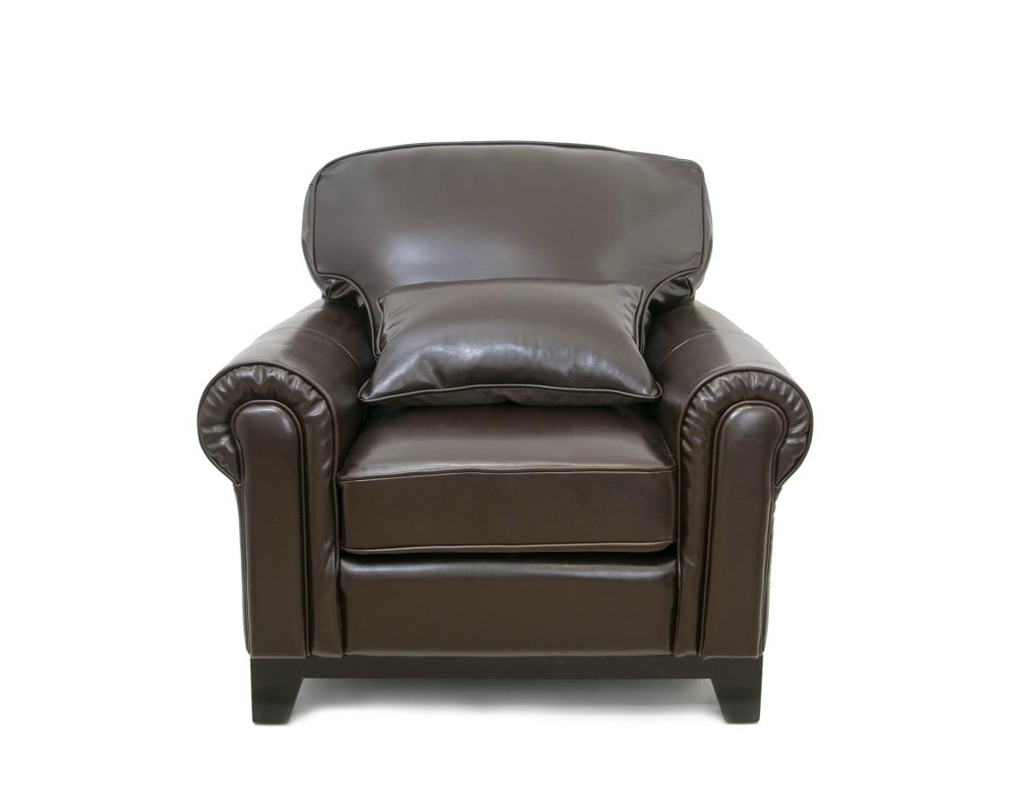 Кожаное кресло TodesКожаные кресла<br>Кресло Todes — воплощение силы и стати. Широкая, мощная конструкция из массива дерева обтянута натуральной кожей темно-коричневого цвета. Это лаконичное и сдержанное кресло прекрасно впишется в гостиную или в кабинет, как в составе с диваном Todes так и самостоятельно.<br><br>Material: Кожа<br>Width см: 103<br>Depth см: 104<br>Height см: 92