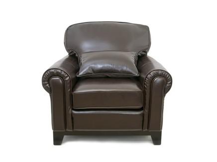 Кожаное кресло todes (mak-interior) коричневый 103x92x104 см.