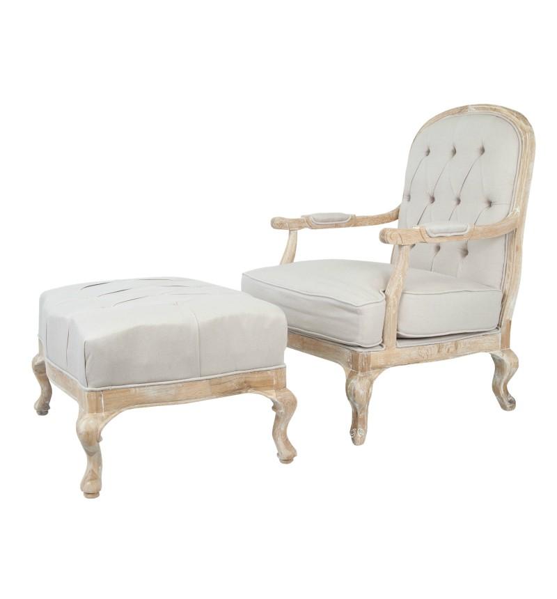 """Кресло и пуф """"Honesta"""""""
