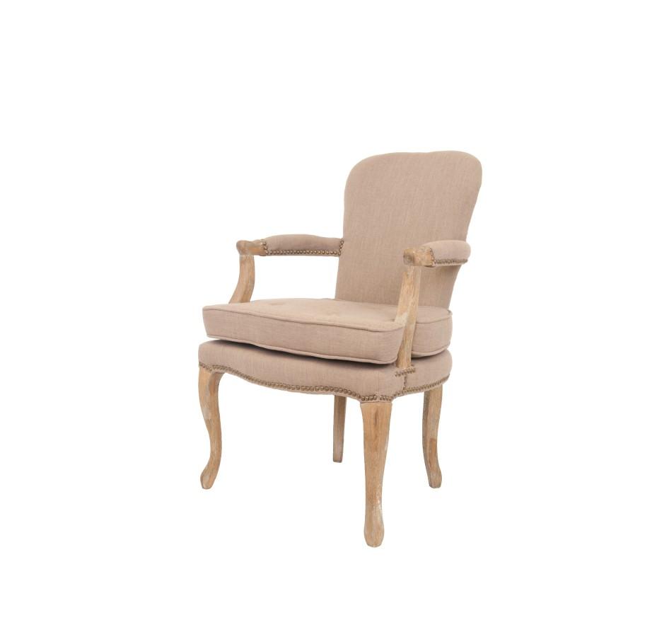Стул AnverОбеденные стулья<br>Стильная и простая модель, выполненная из массива дуба. Обивка выполнена из льна, это подарит интерьеру ощущение легкости и спокойствия. Подлокотники имеют комфортные, мягкие накладки из основной ткани.<br><br>Material: Лен<br>Ширина см: 62<br>Высота см: 94<br>Глубина см: 68