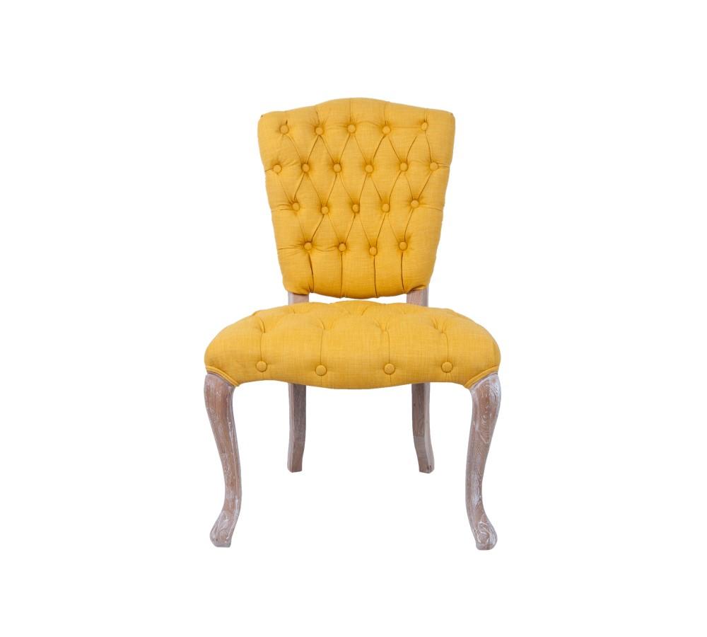 Стул GamilaОбеденные стулья<br>Классическая модель, дань уважения французским традициям. Эта модель так же удобна, как и элегантна. Спинка стула украшена декоративной стежкой. Каркас выполнен из массива дуба. Стул станет прекрасным дополнением к туалетному столику и отлично будет смотреться в кухне-столовой.&amp;amp;nbsp;<br><br>Material: Лен<br>Width см: 61<br>Depth см: 60<br>Height см: 100