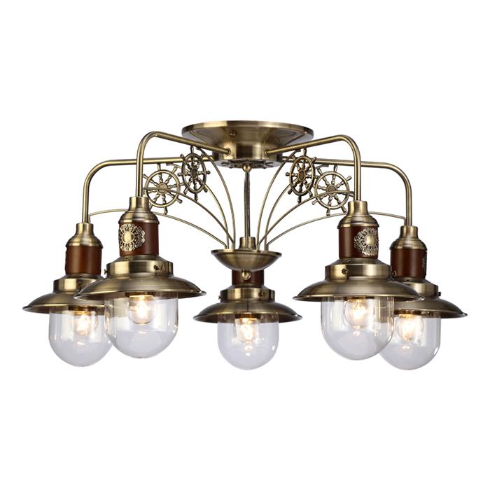 Подвесная люстраЛюстры подвесные<br>Вид цоколя: Е27. Мощность: 60W. Количество ламп: 5.<br><br>Material: Металл<br>Ширина см: 72<br>Высота см: 38<br>Глубина см: 72