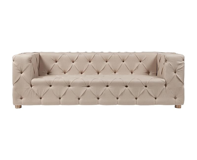 Диван Soho Tufted Upholstered SofaТрехместные диваны<br><br><br>Material: Текстиль<br>Width см: 240<br>Depth см: 75<br>Height см: 90
