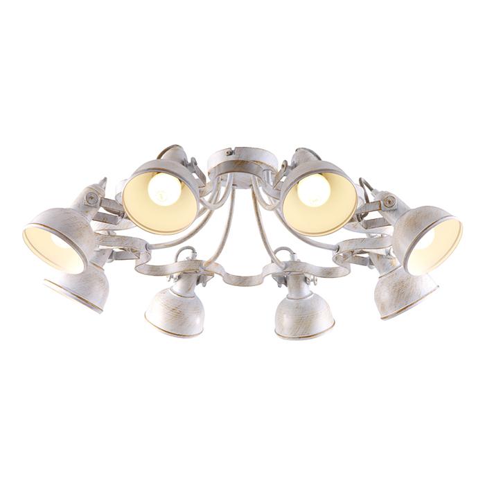 Потолочная люстраЛюстры потолочные<br>Вид цоколя: Е14. Мощность: 40W. Количество ламп: 8.<br><br>Material: Металл<br>Width см: 73<br>Depth см: 73<br>Height см: 25