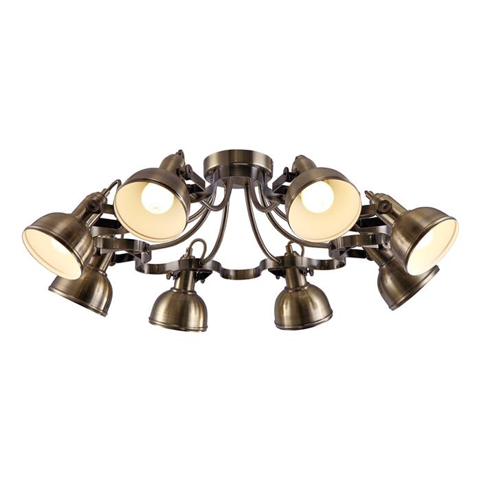 Потолочная люстраЛюстры потолочные<br>Вид цоколя: Е14. Мощность: 40W. Количество ламп: 8.<br><br>Material: Металл<br>Ширина см: 73<br>Высота см: 25<br>Глубина см: 73