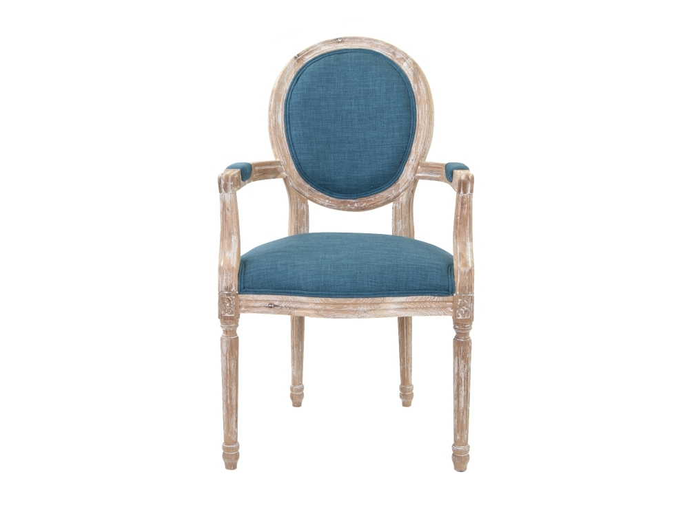 Полукресло Diella blueСтулья с подлокотниками<br>Элегантное кресло Diella классического дизайна, его изящные подлокотники выполнены с применением резной работы по дереву. Модель с овальной спинкой в деревянной раме, украшенной резным элементом. Элегантное кресло с лаконичным размером отлично впишется в интерьер столовой, гостиной или кабинета.&amp;lt;div&amp;gt;&amp;lt;br&amp;gt;&amp;lt;div&amp;gt;&amp;lt;span style=&amp;quot;line-height: 24.9999px;&amp;quot;&amp;gt;Материал: лен, массив дуба.&amp;lt;/span&amp;gt;&amp;lt;br&amp;gt;&amp;lt;/div&amp;gt;&amp;lt;/div&amp;gt;<br><br>Material: Дуб<br>Ширина см: 57<br>Высота см: 99<br>Глубина см: 57