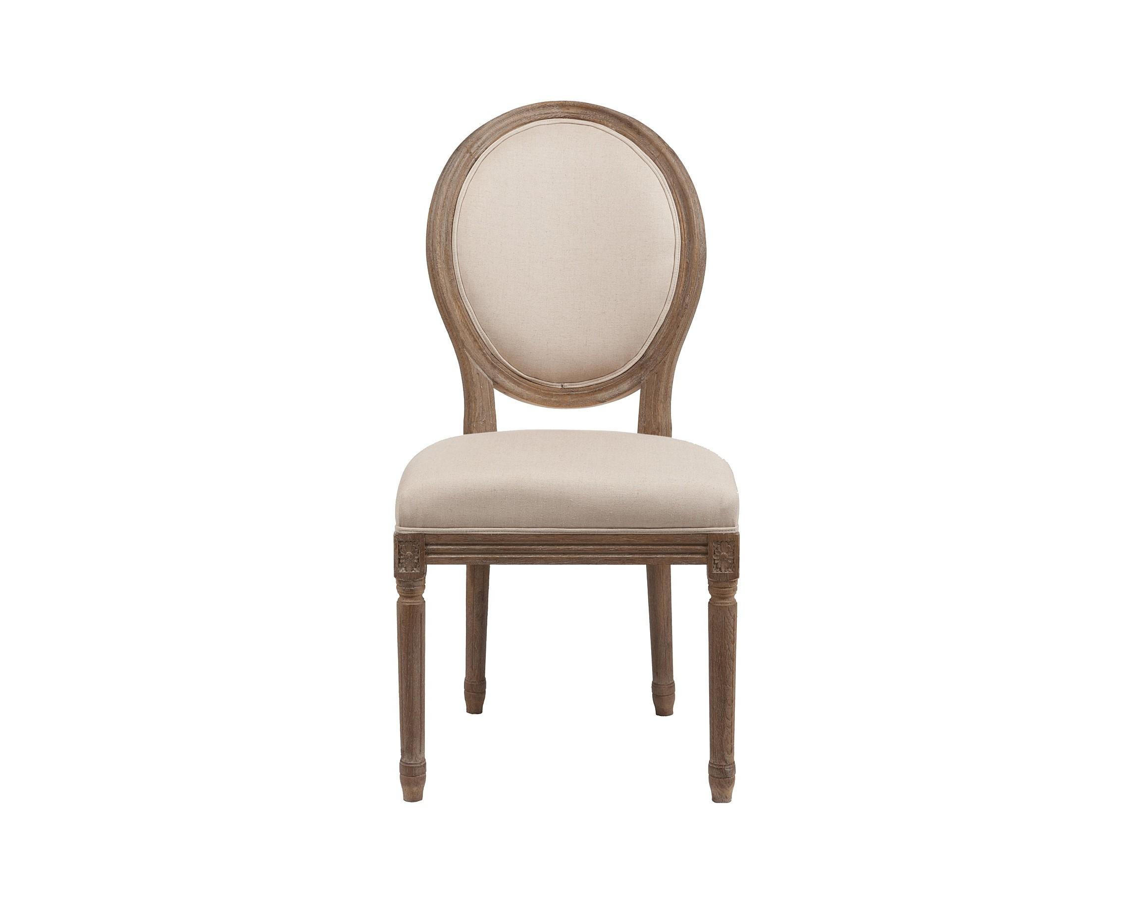 Стул Vintage French RoundОбеденные стулья<br><br><br>Material: Лен<br>Width см: 51<br>Depth см: 61<br>Height см: 102
